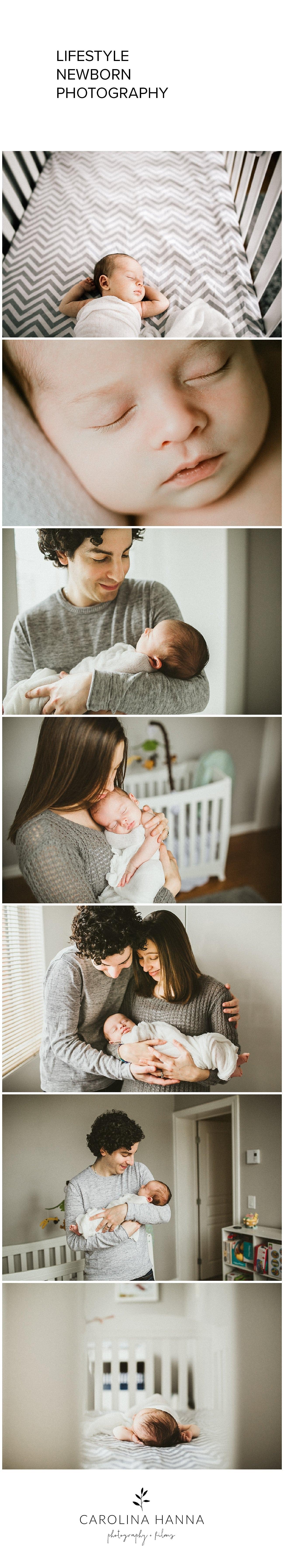 in home family newborn photo shoot